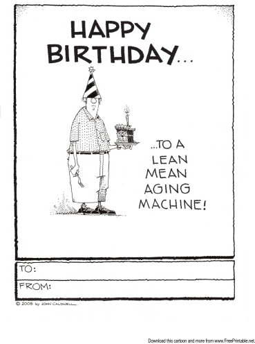 Lean Mean Aging Machine Greeting Card