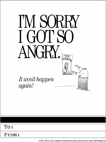 Apology Greeting Card