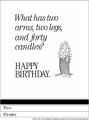 40th Birthday Greeting Card