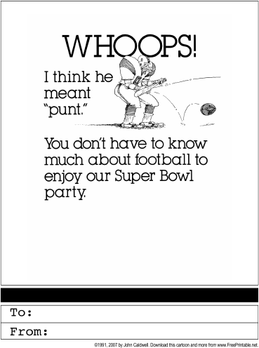 Super Bowl Party Invitation Greeting Card