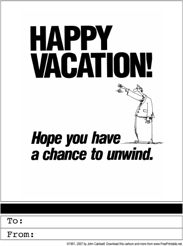Happy Vacation Greeting Card