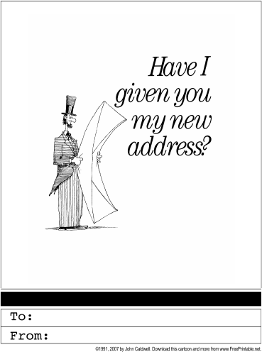 Change of address printable greeting card for Change of address note cards