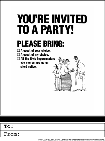 Party Invitation Printable Greeting Card