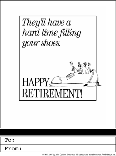 retirement printable greeting card